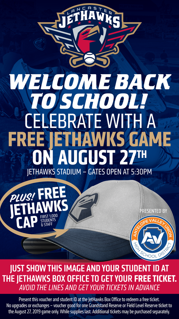 Welcome Back to School celebrate with a Jethawks game on August 27th